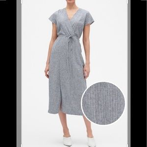 🤪 Banana Republic stripped linen dress new 6